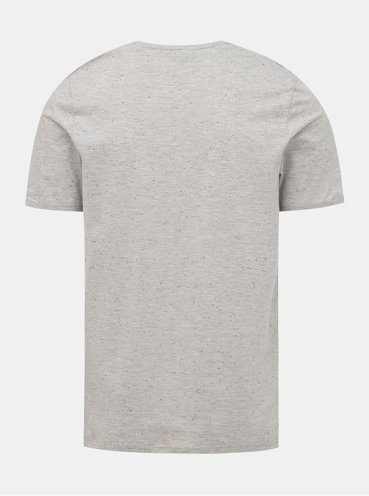 Šedé tričko s vreckom Jack & Jones Nepsen