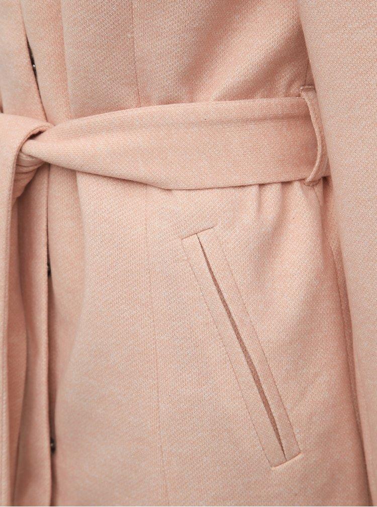 Svetloružový kabát VERO MODA Verodona