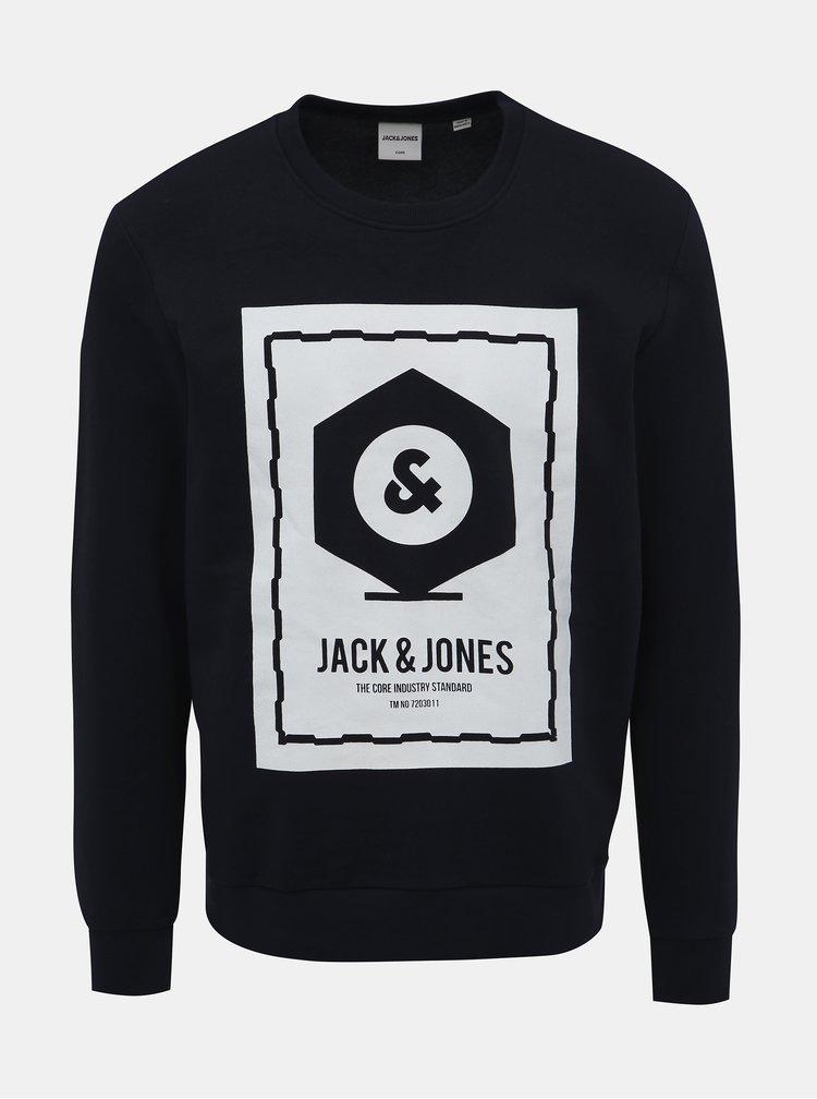 Černá mikina s potiskem Jack & Jones Known