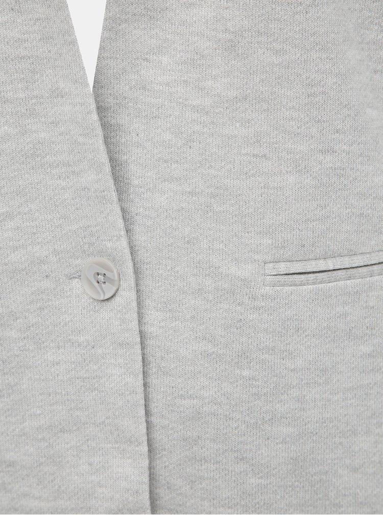 Světle šedý kabát VERO MODA June
