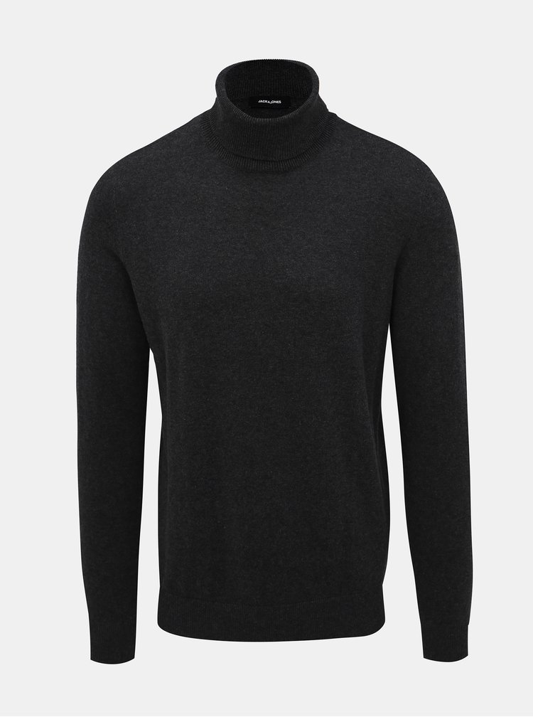 Šedý basic rolák Jack & Jones Emil