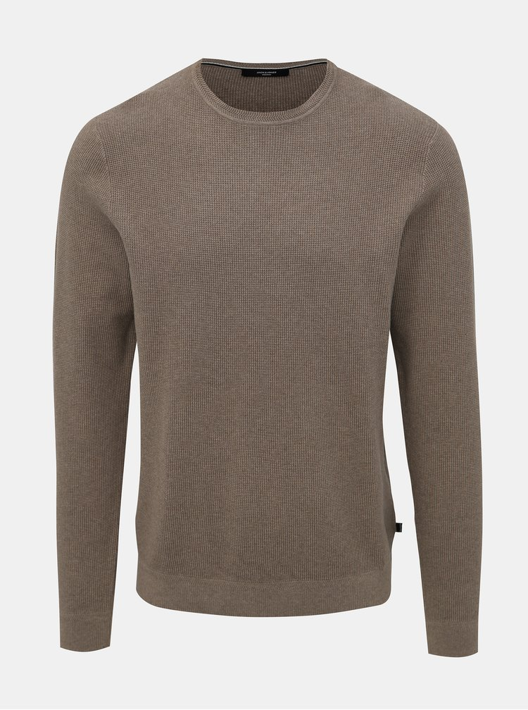 Béžový basic sveter Jack & Jones York