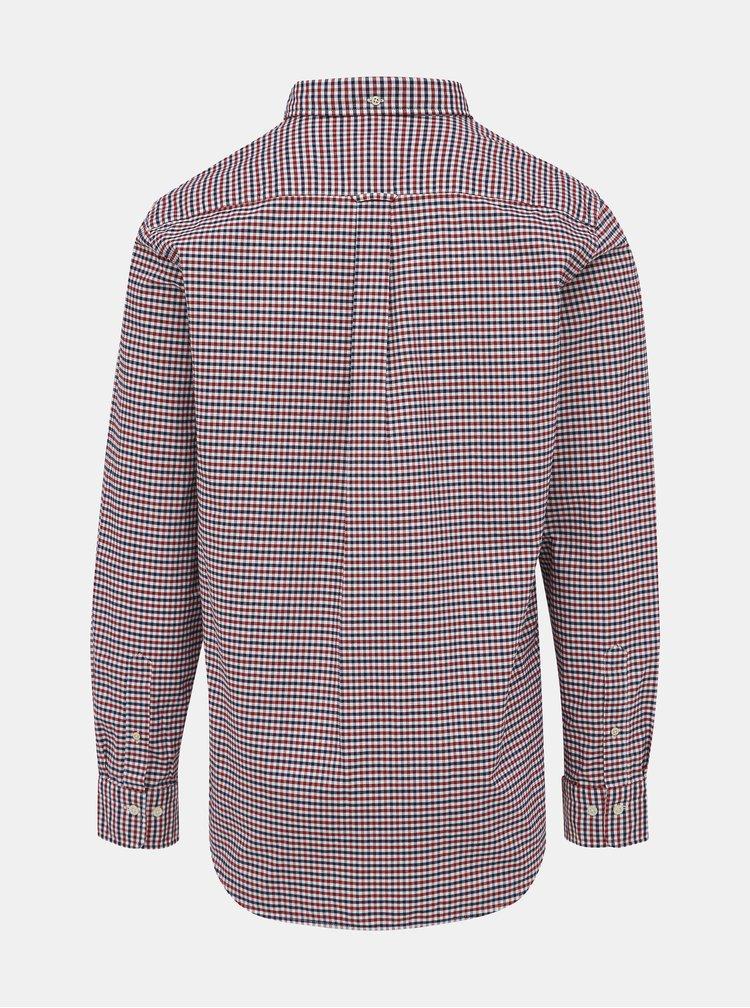 Červená pánska kockovaná košeľa GANT