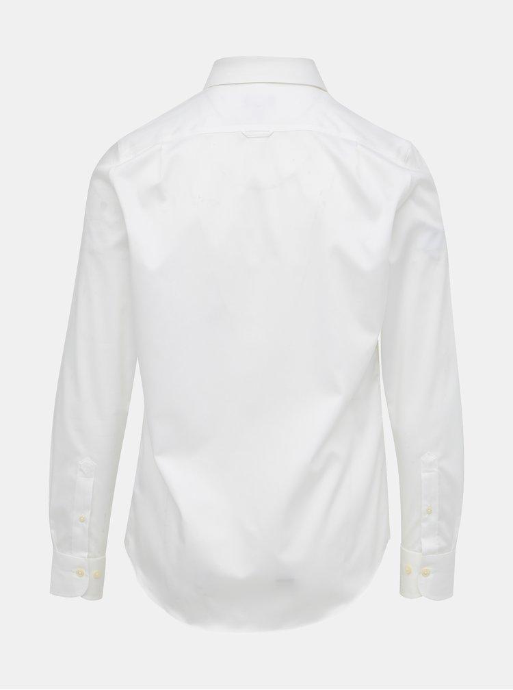 Biela pánska slim fit košeľa GANT