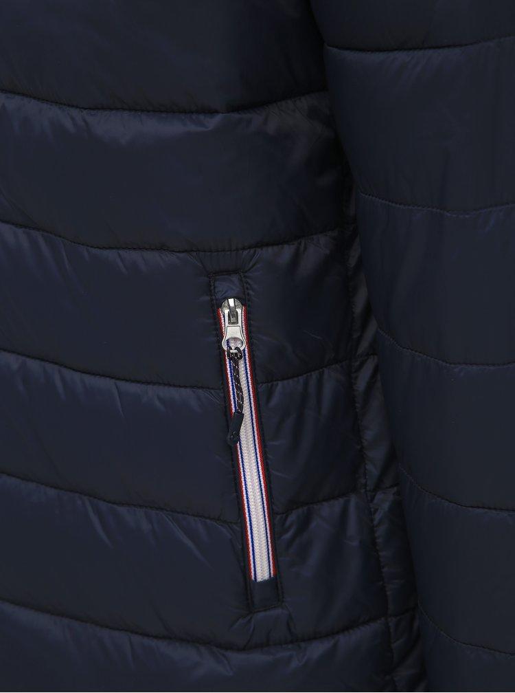 Tmavomodrá prešívaná bunda Jack & Jones Hardy