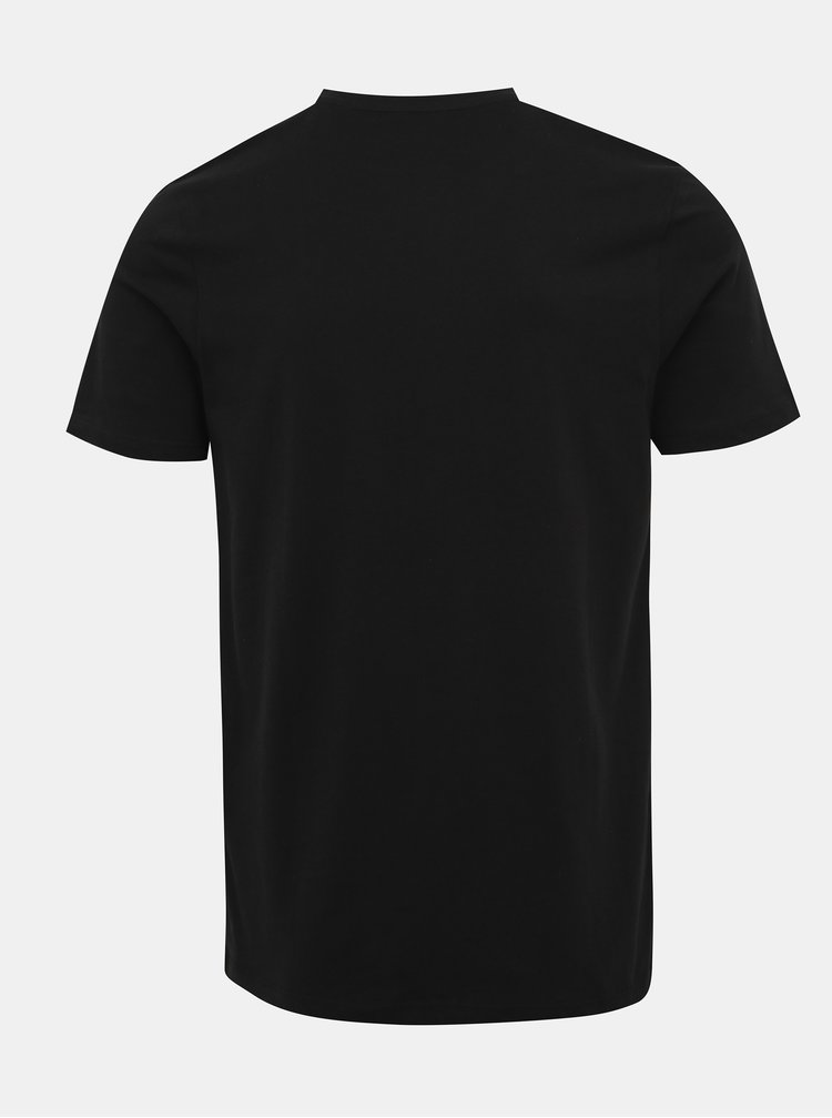 Černé tričko s potiskem Jack & Jones Sega
