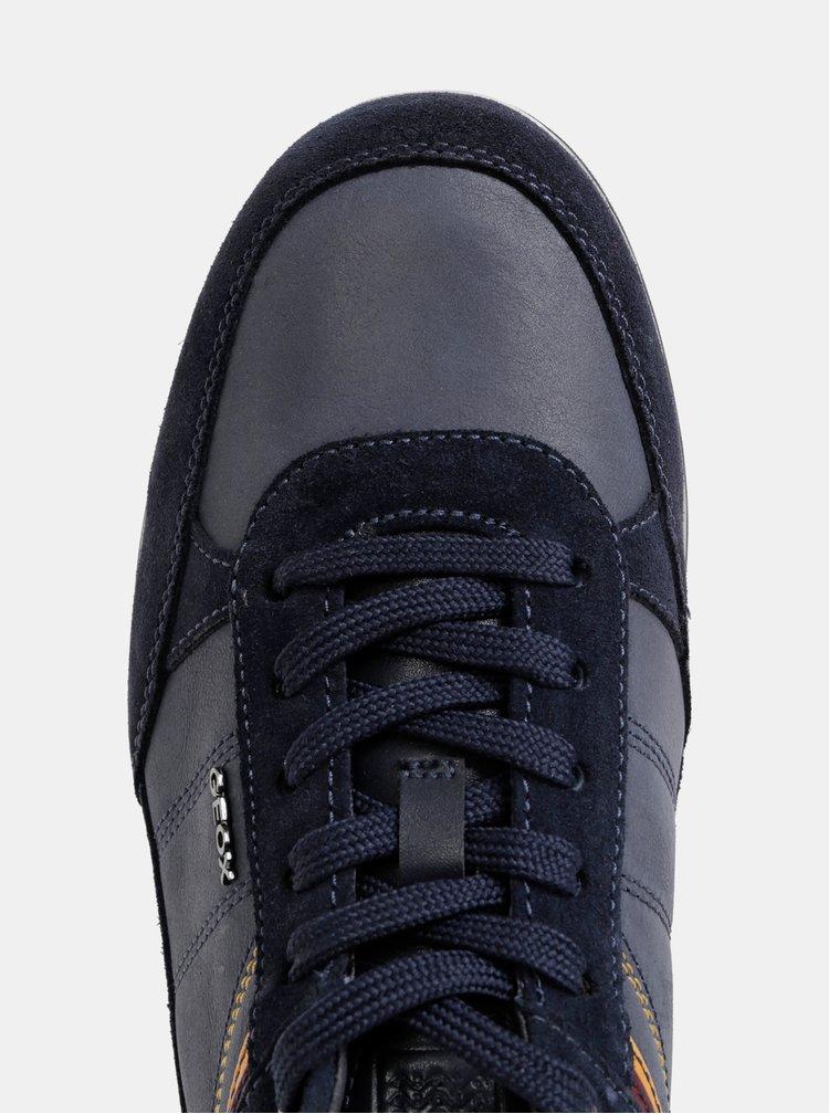 Tmavě modré pánské tenisky se semišovými detaily Geox Renan