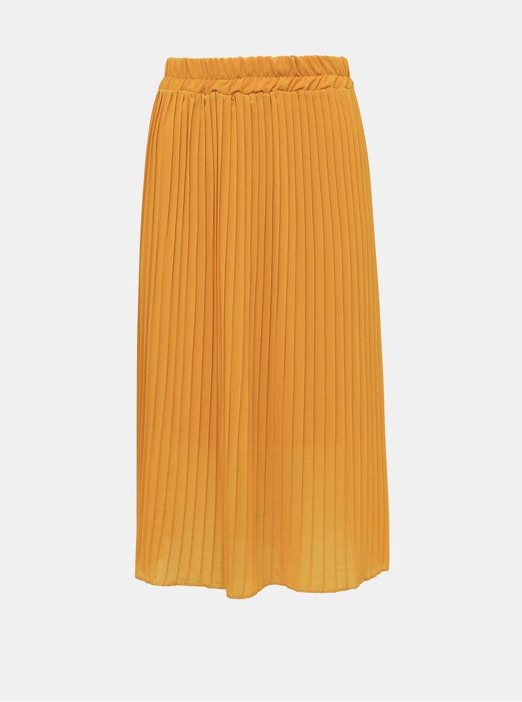 Hořčicová plisovaná sukně Haily´s Anaya