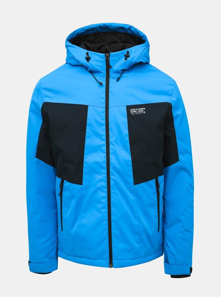 Modrá zimní voděodpudivá bunda Jack & Jones CORE Best