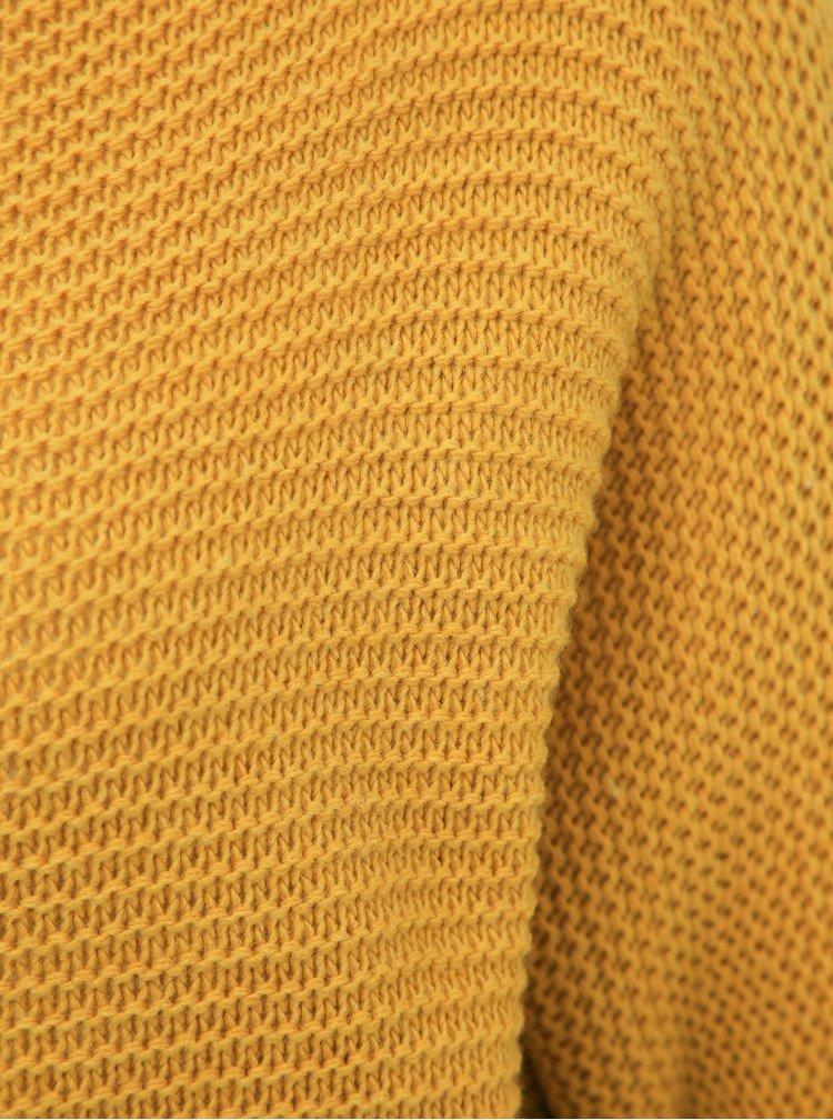 Horčicový dámsky basic sveter Haily´s Anne