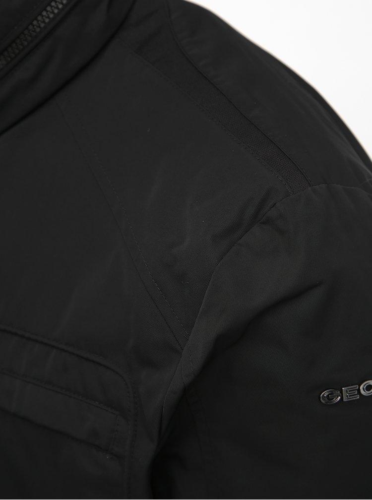 Čierna pánska funkčná bunda Geox Renny