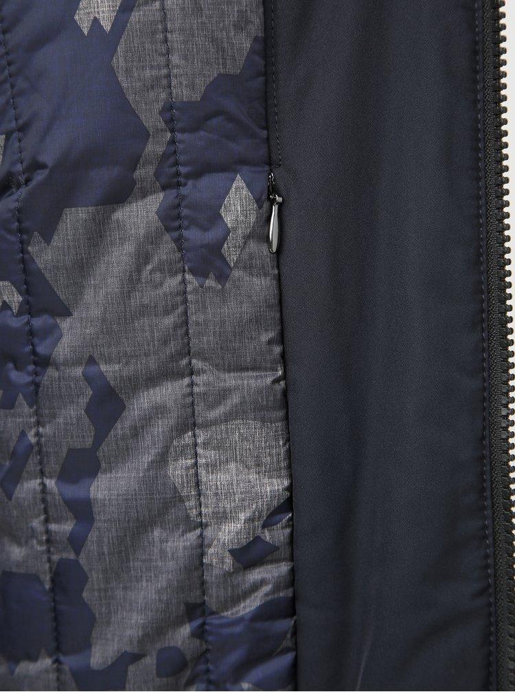 Tmavomodrá pánska funkčná bunda Geox Vincit