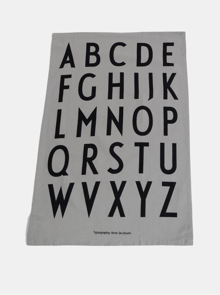 Sada dvou šedých utěrek Design Letters
