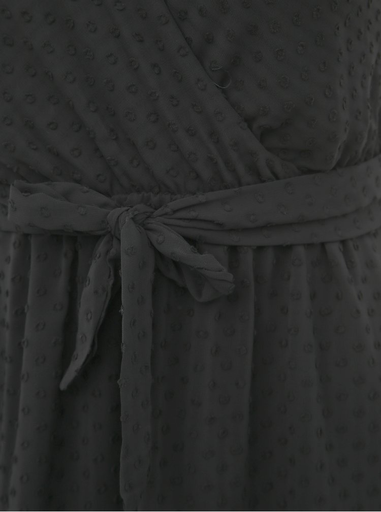 Čierne bodkované šaty Haily´s Melody