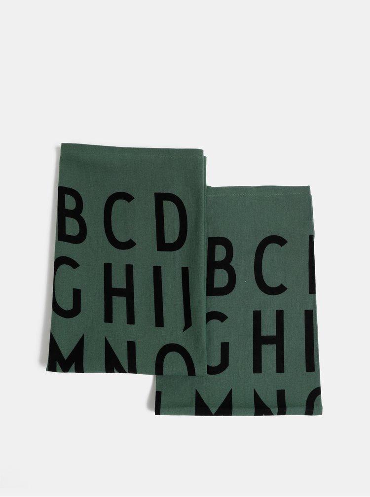 Sada dvoch zelených utierok Design Letters