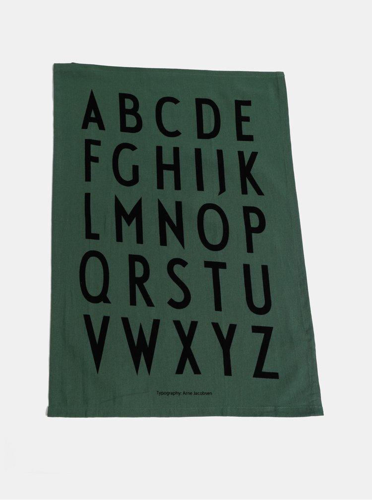 Sada dvou zelených utěrek Design Letters