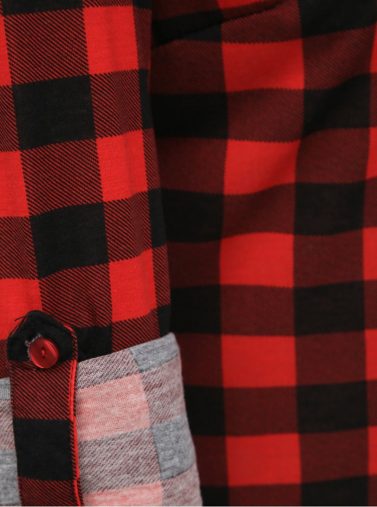 Černo-červená dámská kostkovaná košile Haily´s Eske