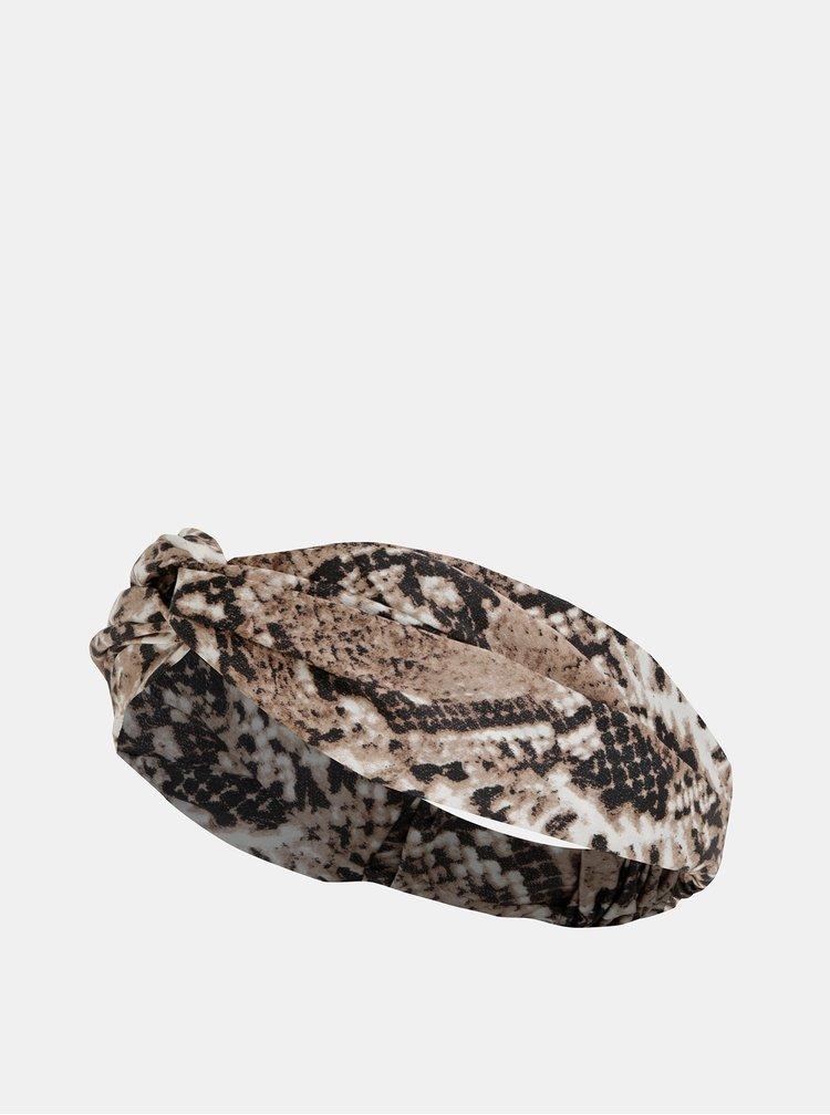 Béžová čelenka s hadím vzorom Haily´s Silla