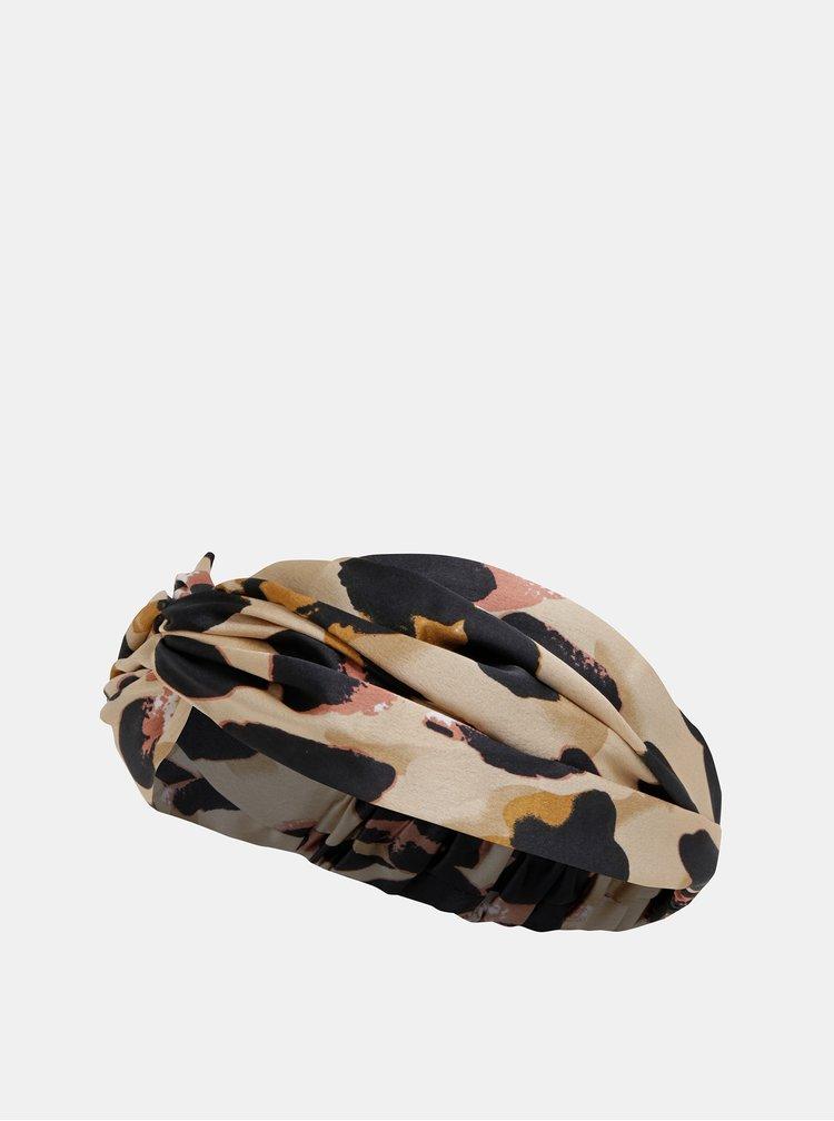 Béžová čelenka s leopardím vzorom Haily´s Sandy