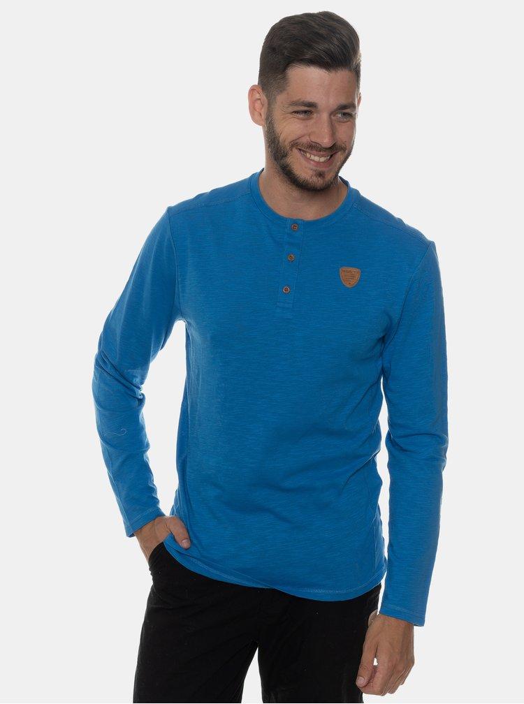 Modré pánské tričko s knoflíky SAM 73