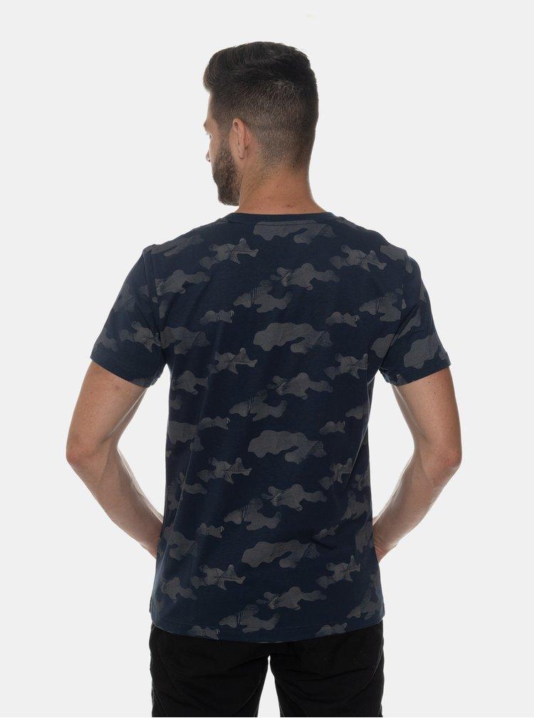 Tmavě modré pánské tričko s potiskem SAM 73