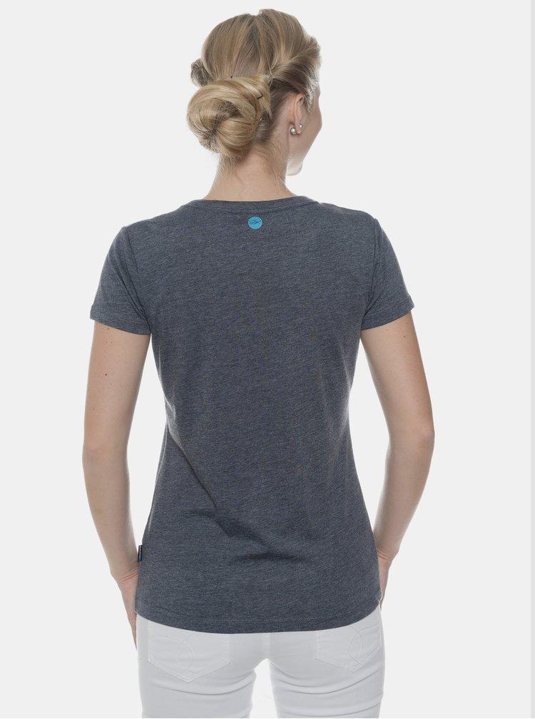 Tmavě modré dámské tričko s potiskem SAM 73