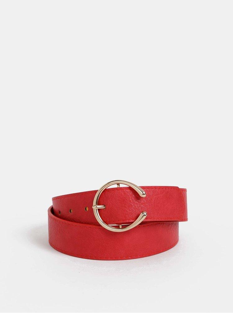 Červený kožený pásek Haily´s Franzy