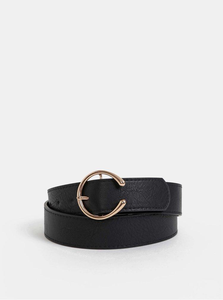 Černý kožený pásek Haily´s Franzy