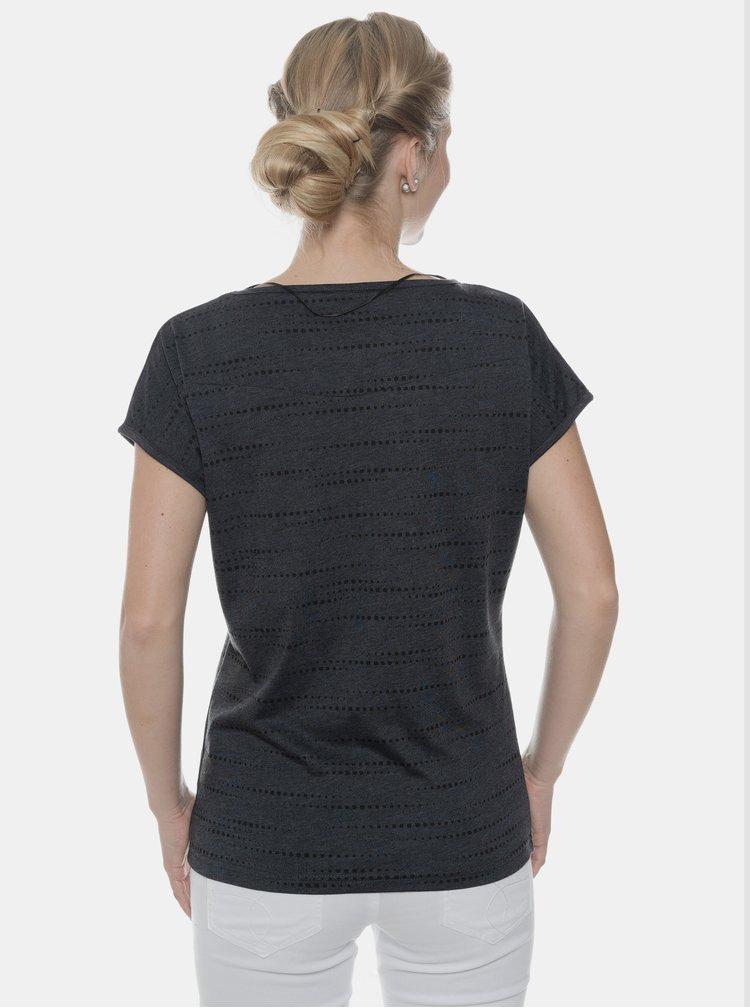 Tmavošedé dámske vzorované tričko SAM 73