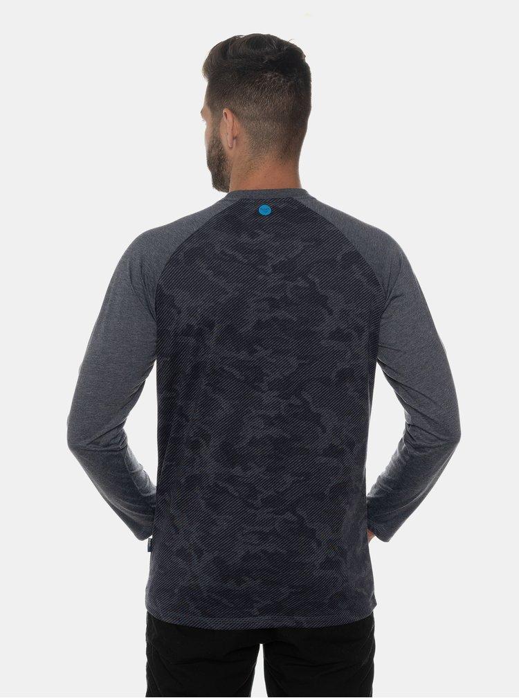 Tmavě modré pánské vzorované tričko SAM 73