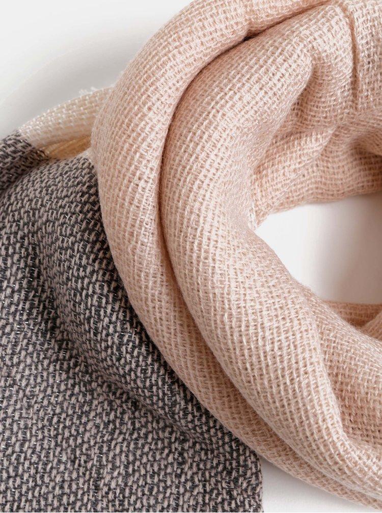 Šedo-růžová šála Haily´s Kimmy