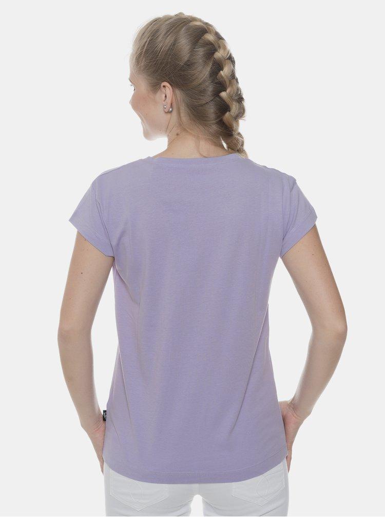 Světle fialové dámské tričko s potiskem SAM 73