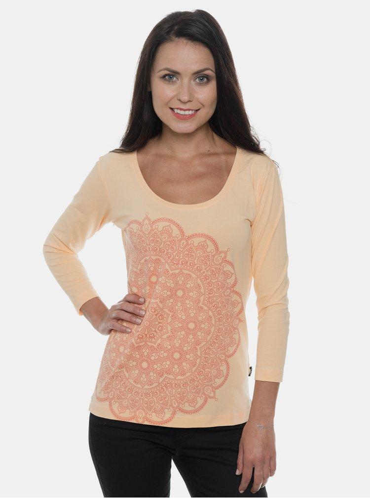 Meruňkové dámské tričko s potiskem SAM 73