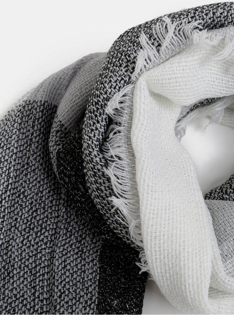 Šedo-bílá šála Haily´s Kimmy