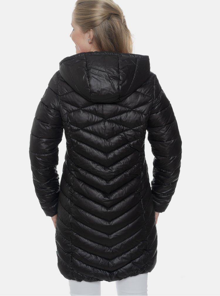 Čierny dámsky prešívaný zimný kabát SAM 73