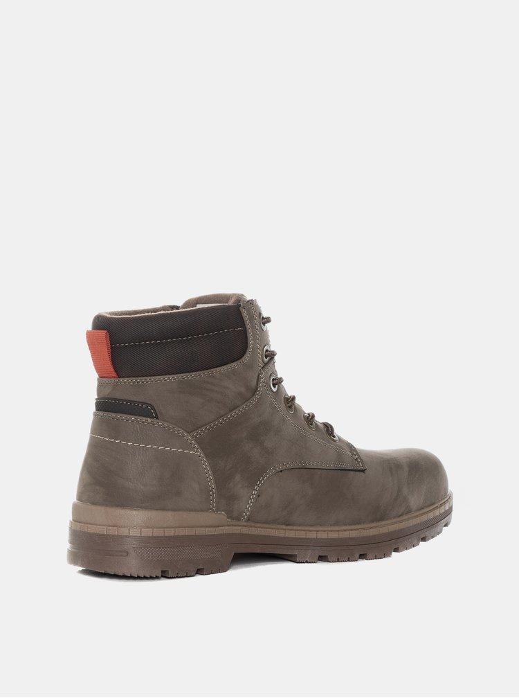 Šedé pánské kotníkové boty SAM 73