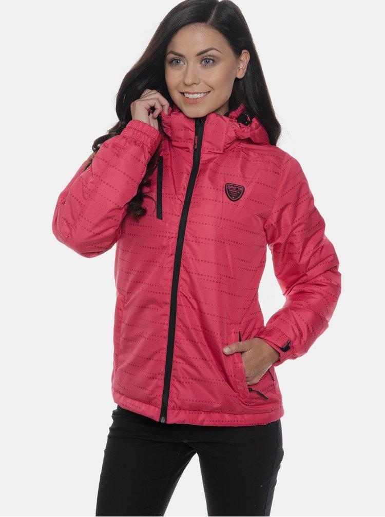 Tmavě růžová dámská nepromokavá zimní bunda SAM 73