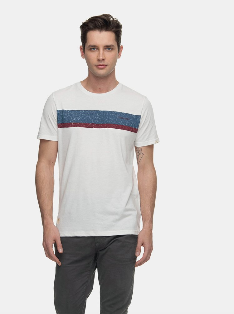 Bílé pánské tričko s potiskem Ragwear Hake Organic