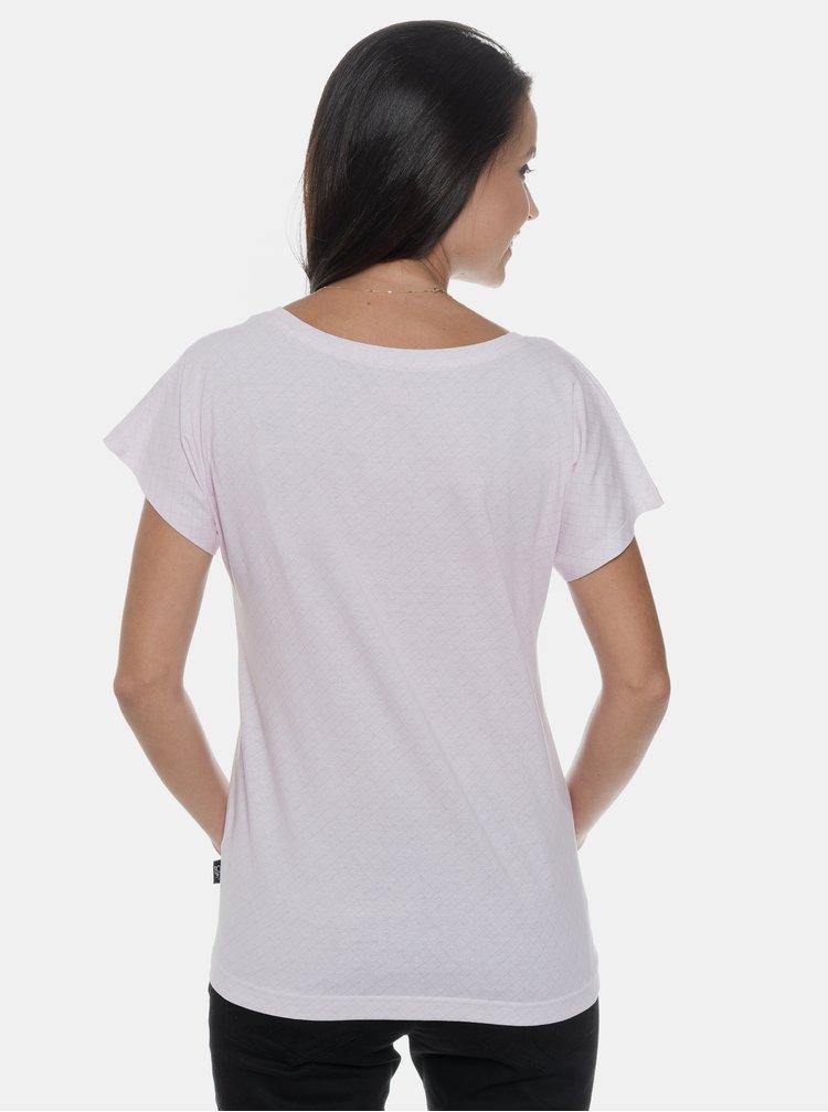 Světle růžové dámské vzorované tričko SAM 73