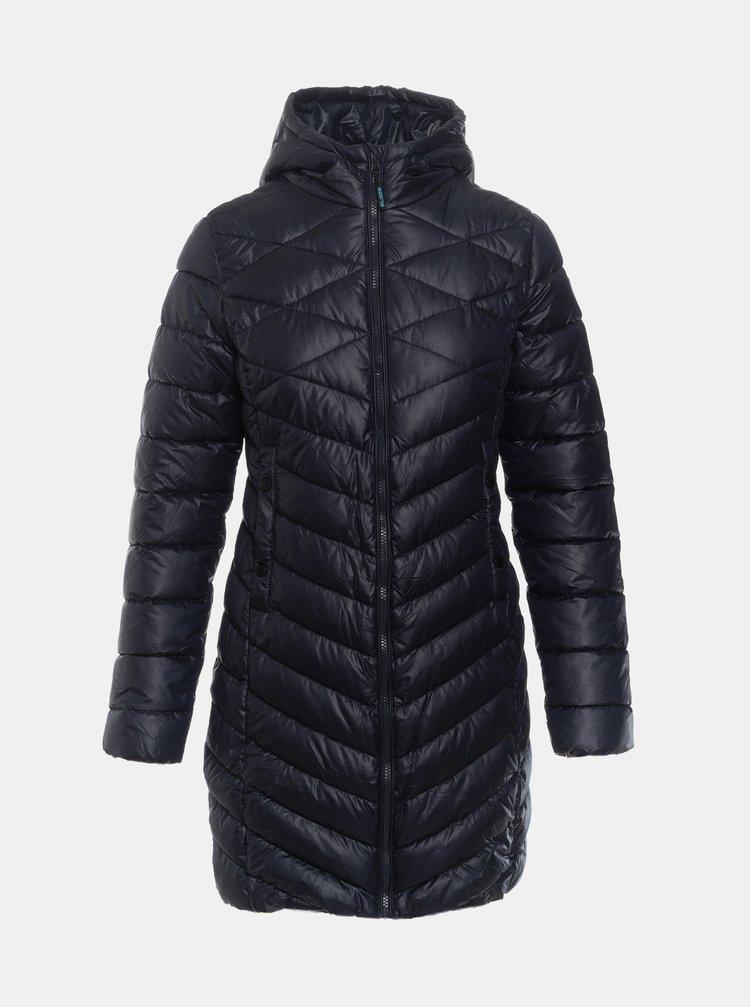 Tmavomodrý dámsky prešívaný zimný kabát SAM 73