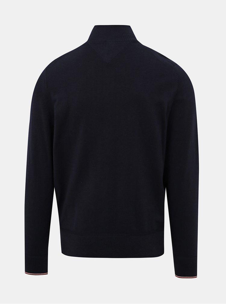 Tmavomodrý pánsky sveter Tommy Hilfiger
