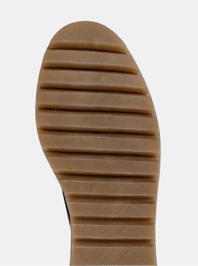 Černé polobotky s krokodýlím vzorem Tamaris
