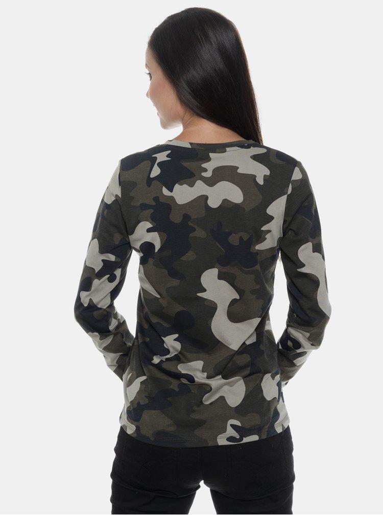 Khaki dámské maskáčové tričko SAM 73