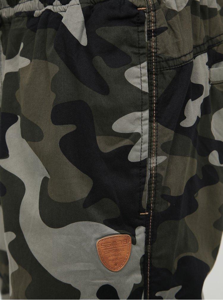 Kaki pánske vzorované nohavice SAM 73