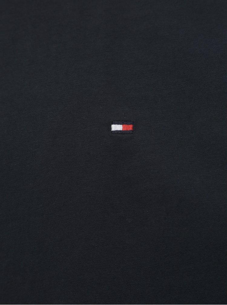 Tmavomodré pánske basic tričko Tommy Hilfiger