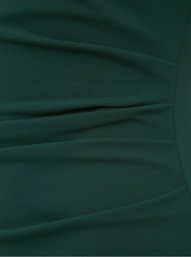 Tmavě zelené pouzdrové maxišaty ZOOT