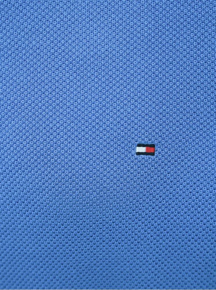Modrý pánsky basic sveter Tommy Hilfiger