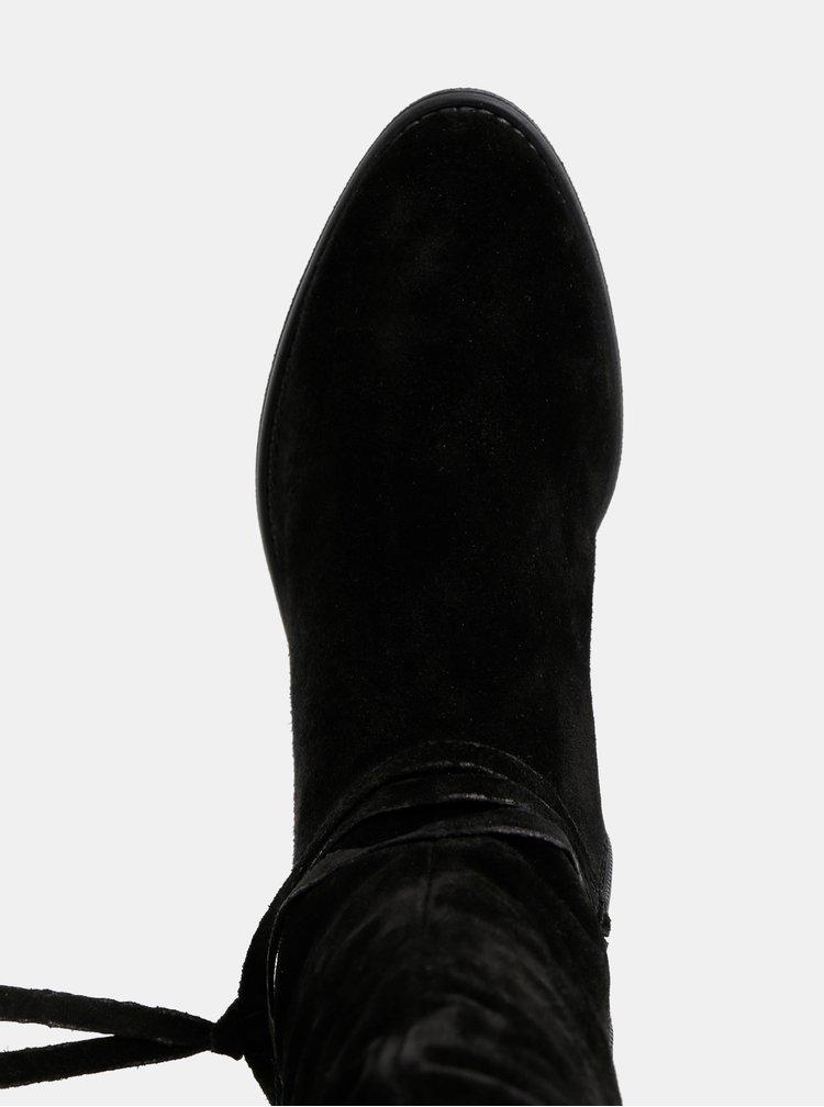 Čierne semišové čižmy Tamaris