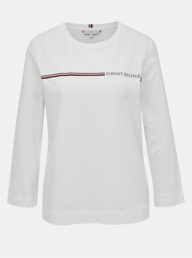 Bílé dámské tričko s potiskem Tommy Hilfiger Katie