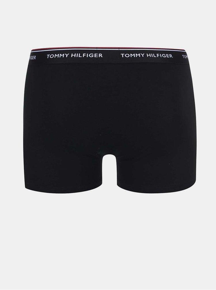 Kolekcia troch boxeriek v bielej, sivej a čiernej farbe Tommy Hilfiger